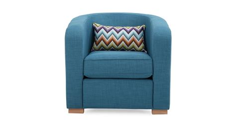 dfs pizzazz teal blue fabric accent chair with pattern