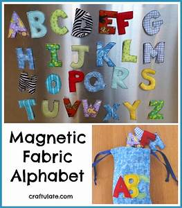magnetic fabric alphabet craftulate With fabric magnetic alphabet letters