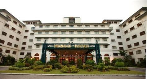 hotel facade picture of the manila hotel manila