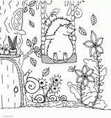 Coloring Hedgehog Adults Printable sketch template