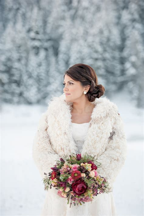 Snowy Winter Wedding Inspiration From Brooke Bakken