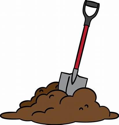Dirt Shovel Digging Clip Dig Clipart Cartoon