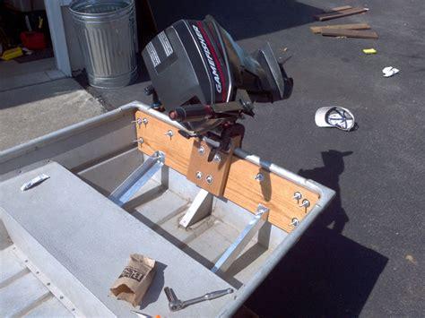 Jon Boat Transom Reinforcement by Modal Title