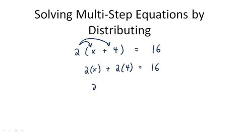 distributive property for multi step equations ck 12 foundation