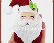 Unique santa claus pattern related items | Etsy
