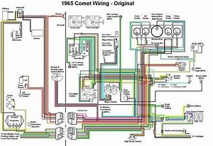 Original Wiring Diagram Of 1965 Comet  61164