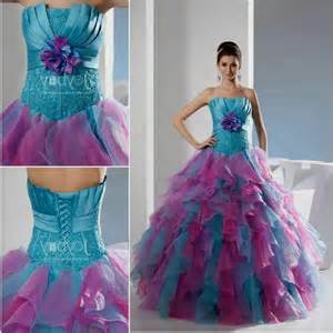 pink and blue prom dresses different wodip com