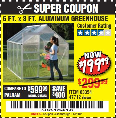 harbor freight greenhouse coupon code