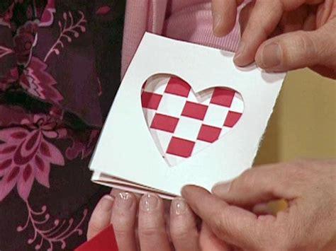 woven valentine heart card diy