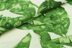 Pflanze Große Blätter : dekostoff canvas gro e bl tter pflanze auf creme traumbeere ~ Avissmed.com Haus und Dekorationen