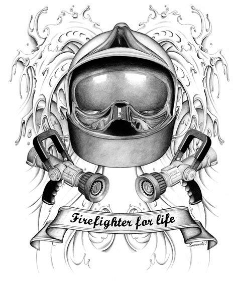 Brandweerhelm Kleurplaat by Pyrografie Wood Creator