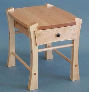 Single Drawer Bedside Table By Todd Bradlee Wood Side