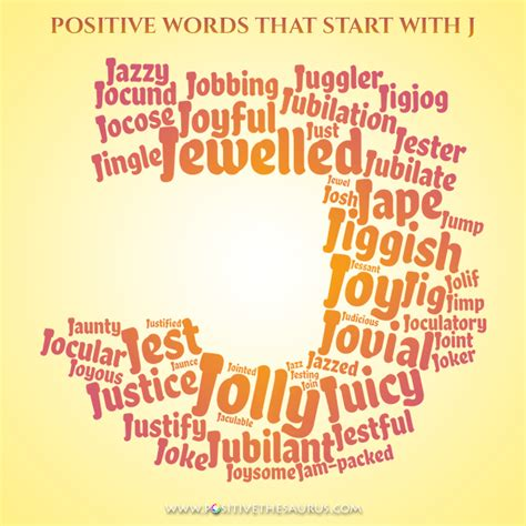 words with letter j jazzy list positive adjectives that start with j