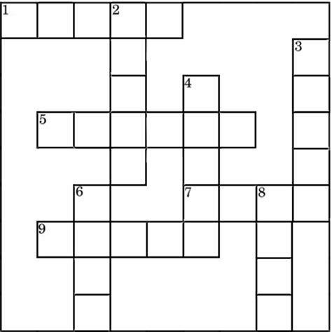 crossword template easter crossword puzzles