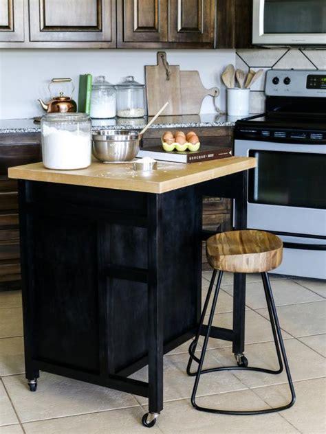 kitchen island com how to build a diy kitchen island on wheels hgtv