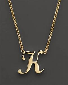 Roberto coin 18k yellow gold letter initial pendant for Roberto coin letter pendant