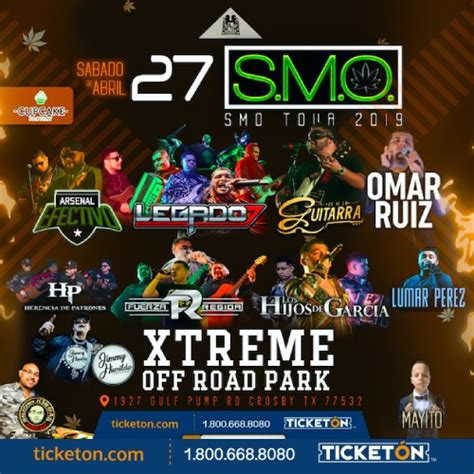 Smoke Me Out Crosby Tickets Boletos Xtreme Off Road Park