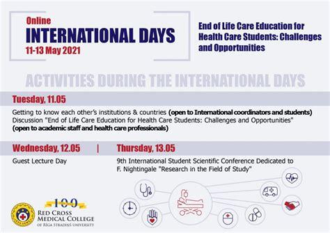 Tuvojas ikgadējās Starptautiskās dienas - RSU Sarkanā ...
