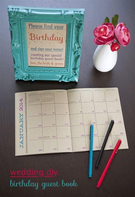 birthday calendar guest book  wedding guest book