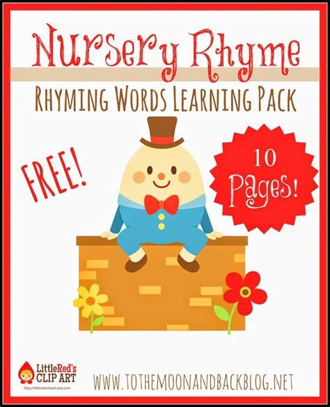 free nursery rhyme rhyming words pack 284 | d7b1cb7d76347f49e2547787cc3c0932