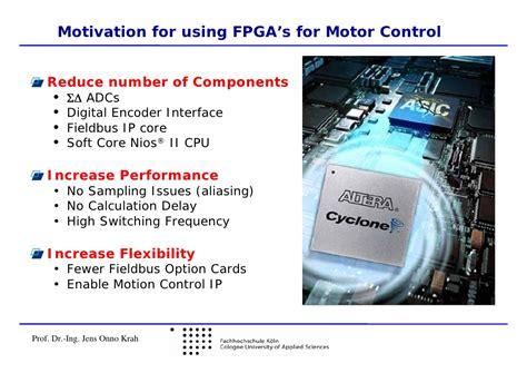 Adv. FPGA Motor Control--EBV & Univ. of Koln: Embedded ...