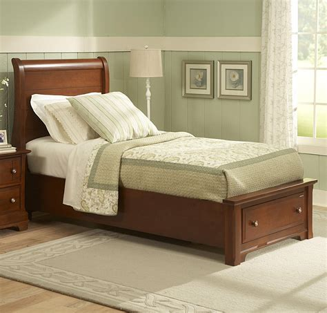 vaughan bassett cottage sleigh storage bed with 1