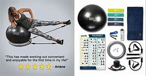 Exercise Ball Resistance Bands Workout Set - Fitness, Office Ball Chair Balls and Bands