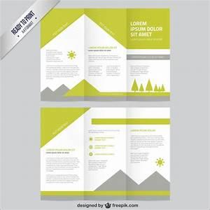 nature brochure template vector free download With free vector brochure templates