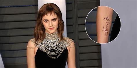 Tattoo Emma Watson Los Pins Que Muestran