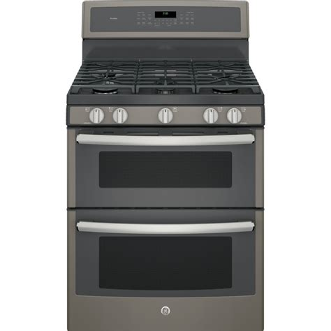 pgbeejes ge profile series   standing gas double oven convection range