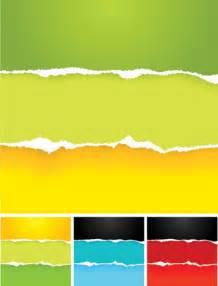 4-Designer | Colorful torn paper vector material
