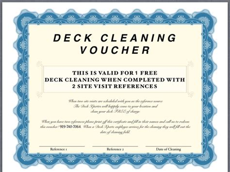 cleaning certificate deckxperts