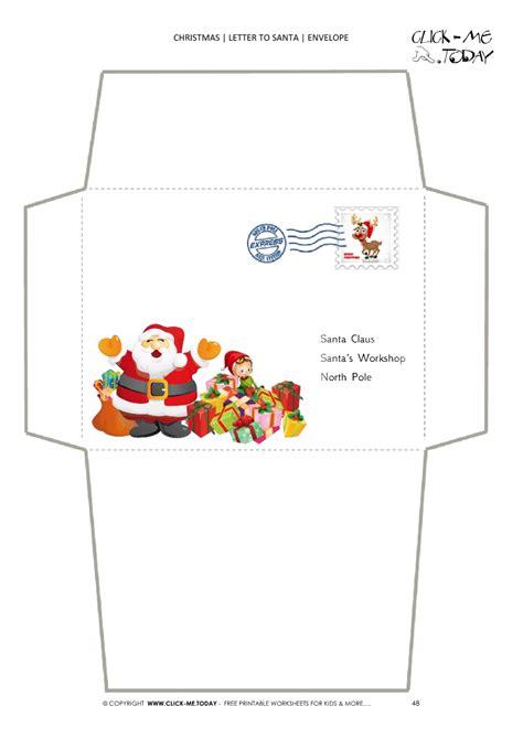 envelope  santa claus template  toddlers