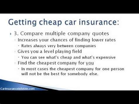 car insurance comparison chart    insurance