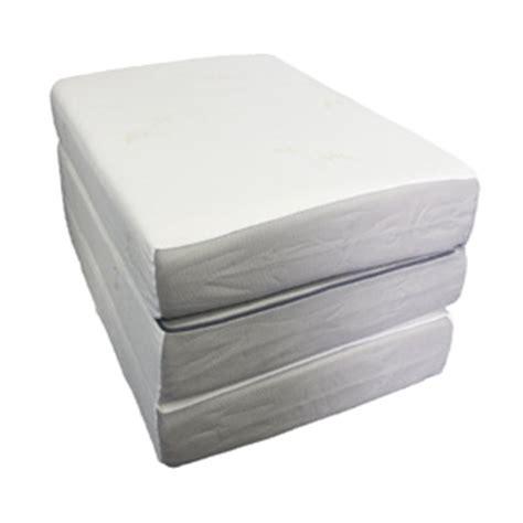 trifold foam bed all sizes 6 quot ultra soft memory foam tri fold