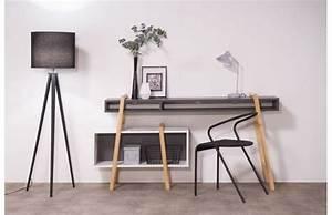 Bureau Design Gris Et Blanc Wood Tang Compo 3