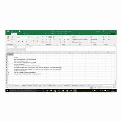 Plan Truck Etude Excel Marche Word Pack
