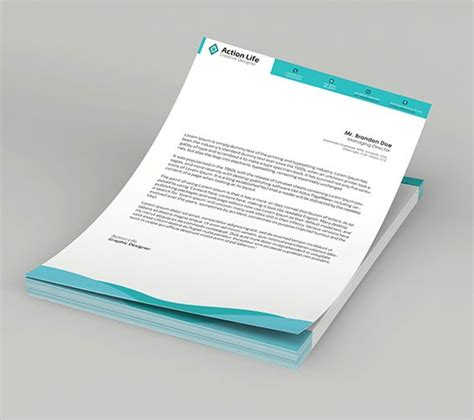 psd letterhead templates