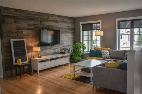 bois de grange salon salon en bois decoration salon