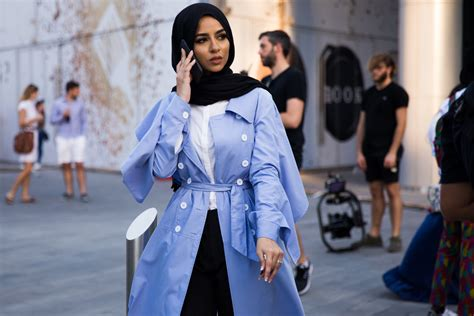 hijab street style sand   city