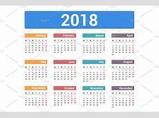 2018 Calendar ~ Graphics ~ Creative Market
