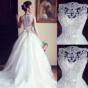 elegant beaded wedding dresses bridal gown bateau ball With wedding dress beads