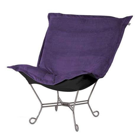 howard elliott puff chair eggplant