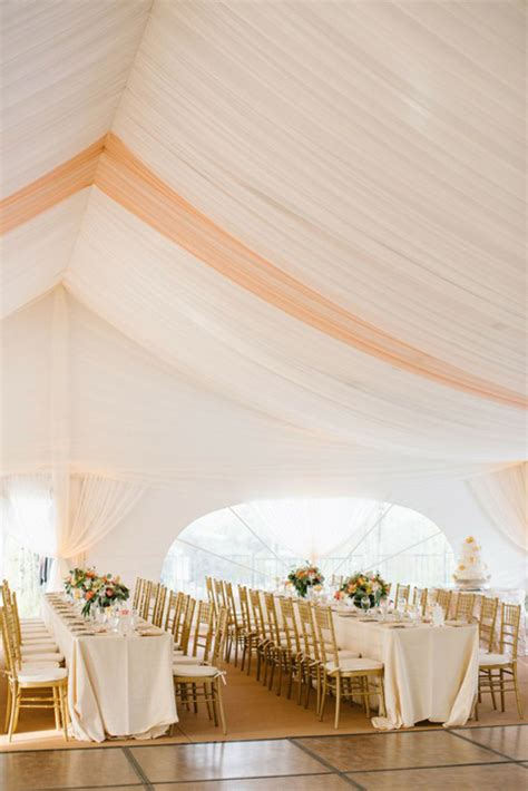 Tent Draping Fabric - 10 chic wedding tent styles