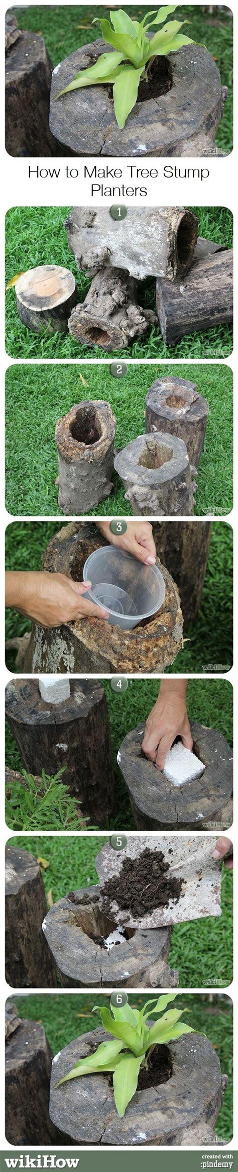 how to make planters how to make tree stump planters ikea decora
