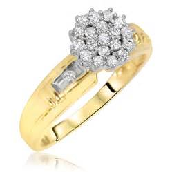 14k yellow gold engagement rings 1 3 carat t w 39 s engagement ring 14k yellow gold my trio rings bt115y14ke
