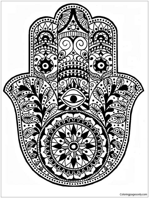 Simple Mandala 4 Coloring Page - Free Coloring Pages Online