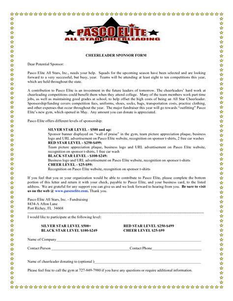 cheerleading sponsorship letter template