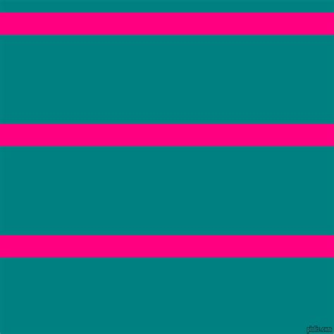 Deep Pink And Teal Horizontal Lines And Stripes Seamless