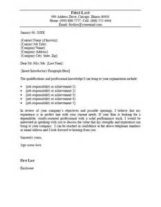 Word Templates For Cover Letter For Resume by Cover Letter Template